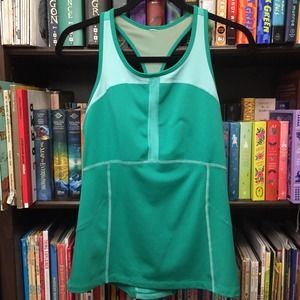Lucy Teal Racerback Tank Cycling Jersey S